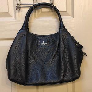 Kate Spade black leather Stevie Berkshire Road